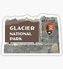 Glacier National Park Sign, Montana, USA Sticker