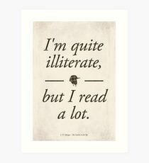 J. D. Salinger's The Catcher in the Rye - Literary Quote, Book lovers gift, modern home decor Art Print