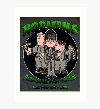 Norman's Paranormal pest control. Art Print