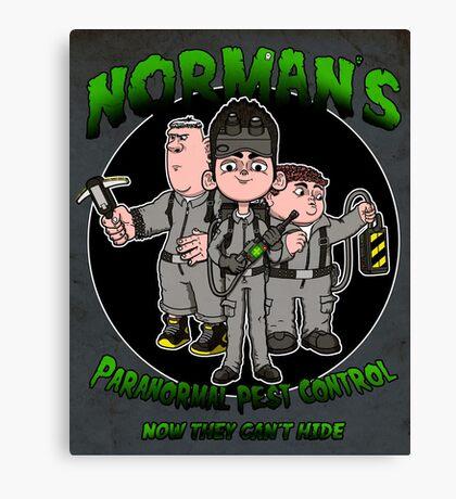 Norman's Paranormal pest control. Canvas Print