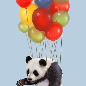 Panda balloon by telurico