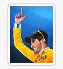 Alberto Contador painting Sticker