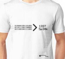 Binary > leet speak Unisex T-Shirt