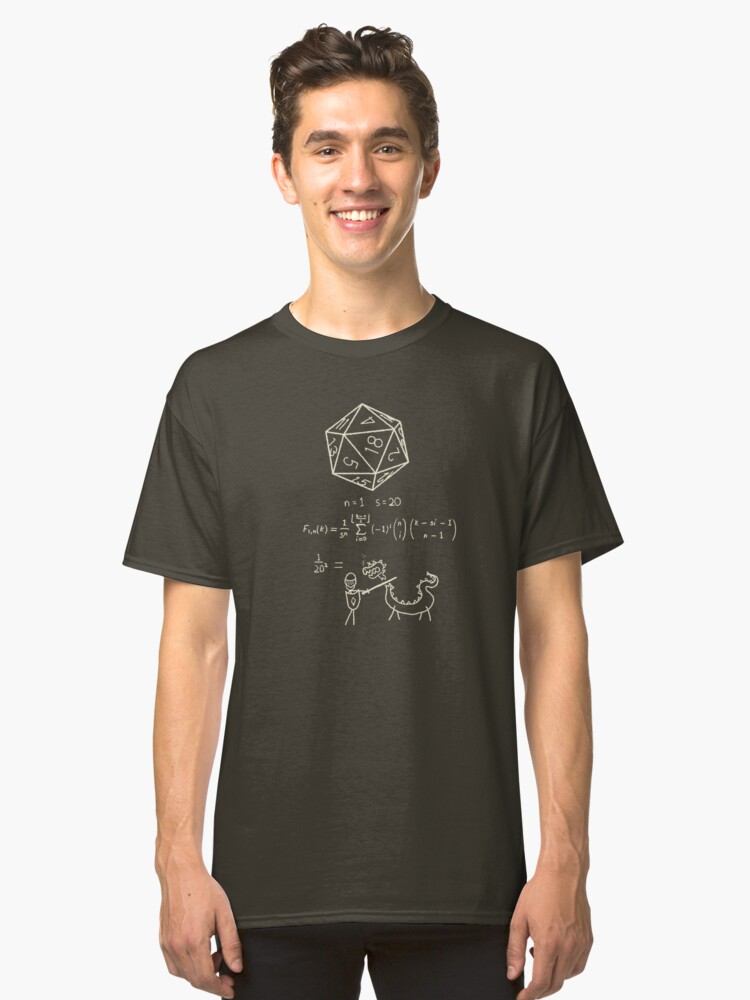 Alternate view of The science of 20 sided dice. Classic T-Shirt