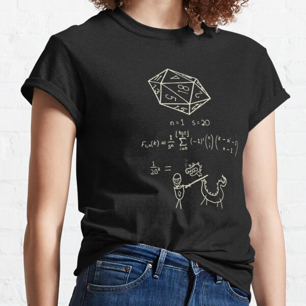 The science of 20 sided dice. Classic T-Shirt