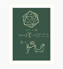 The science of 20 sided dice. Art Print