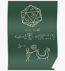 The science of 20 sided dice. Poster