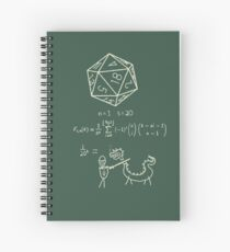 The science of 20 sided dice. Spiral Notebook