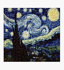 Vincent Van Gogh Starry Nights Photo Mosaic Photographic Print