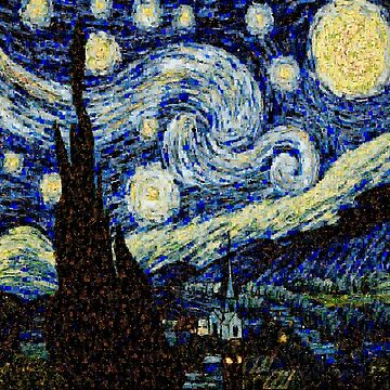 Vincent Van Gogh Starry Nights Photo Mosaic by amazingshop