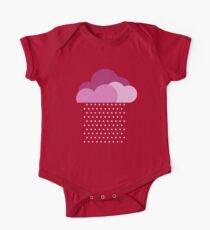 Purple clouds -  We love colorful weather! Pink rain, color drop, water, raindrop One Piece - Short Sleeve