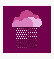 Purple clouds -  We love colorful weather! Pink rain, color drop, water, raindrop Photographic Print