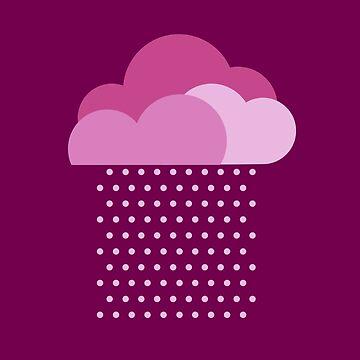 Nubes púrpuras - ¡Amamos el clima colorido! Lluvia rosa, gota de color, agua, gota de lluvia de boom-art