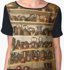 Copper Pots and Teapots Women's Chiffon Top