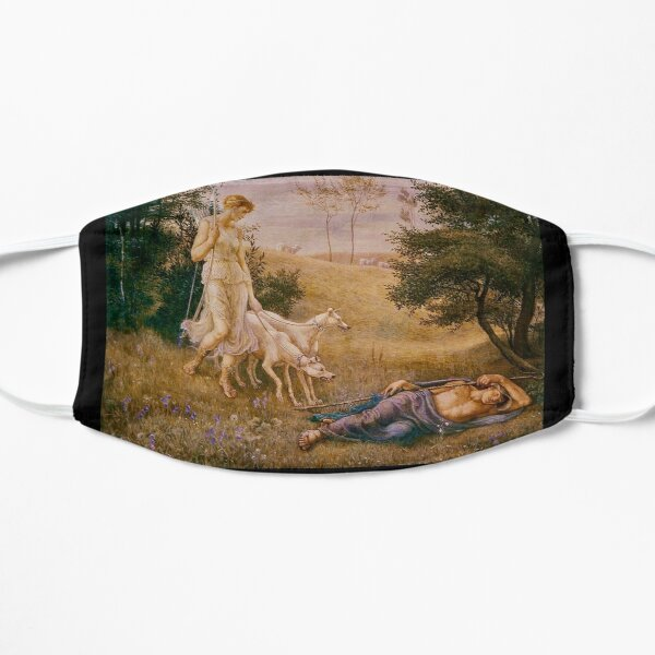 """""""Diana and Endymion"""" by Walter Crane (1887) Flat Mask"""