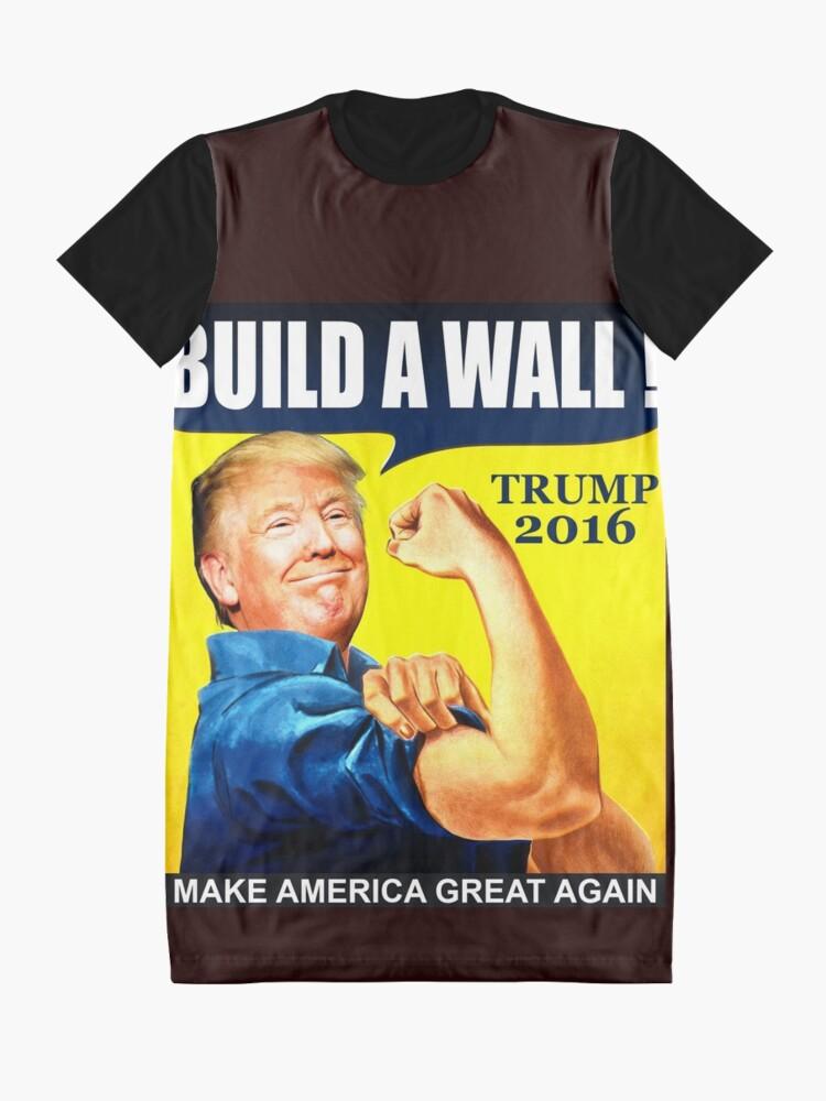 c44355d2fb2 Alternate view of Donald Trump Build Wall Graphic T-Shirt Dress