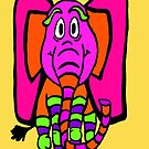 Ethal the Colorful Elephant by Vickie  Scarlett-Fisher