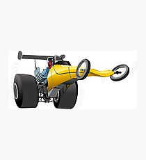 Cartoon dragster Photographic Print
