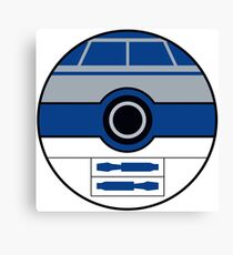 R2D2 Pokemon Ball Mash-up Canvas Print