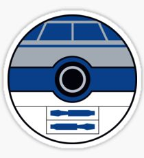 R2D2 Pokemon Ball Mash-up Sticker