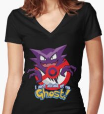 Haunter Busters! Women's Fitted V-Neck T-Shirt