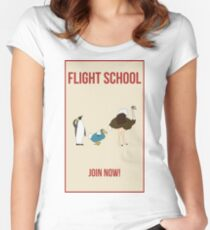 Flight School Illustration Women's Fitted Scoop T-Shirt