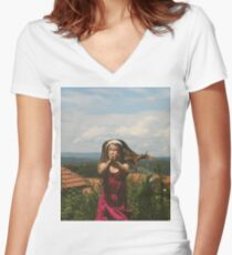 Vintage love Women's Fitted V-Neck T-Shirt