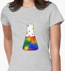 Rainbow Erlenmeyer Women's Fitted T-Shirt