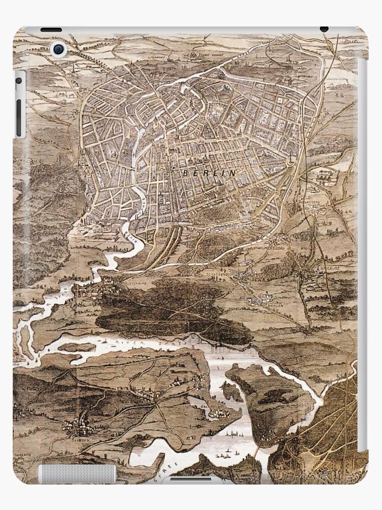 Vintage Karte von Berlin Deutschland (1870) von BravuraMedia
