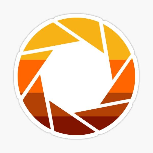 70er Jahre Modern Portal Aperture Logo (heiß) Sticker