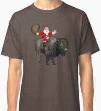 Santa Riding A Bison Classic T-Shirt