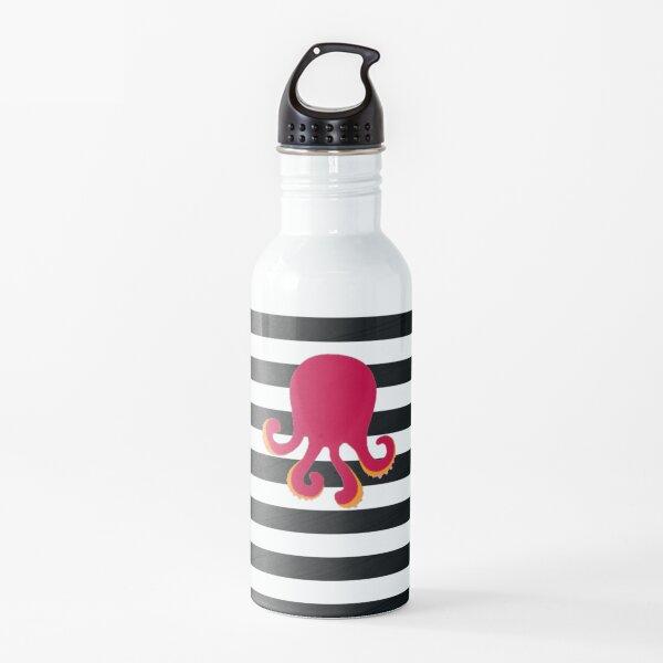 Squid on Stripes Water Bottle