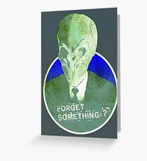 Mr Silence Greeting Card