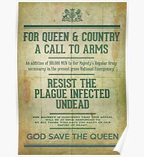Resist the Plague infected undead Poster