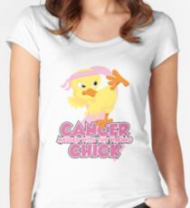 Breast Cancer Messed With The Wrong Chick Women's Fitted Scoop T-Shirt