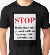 Railway Sign      Simile ? Unisex T-Shirt