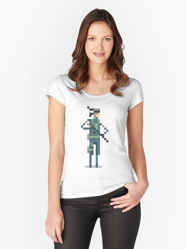 Metal Gear's - Solid Snake Women's Fitted Scoop T-Shirt Front