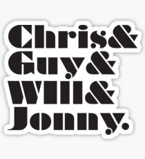 Coldplay Band Member List Sticker