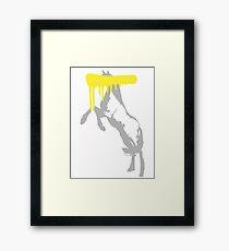 Censored Horse Framed Print