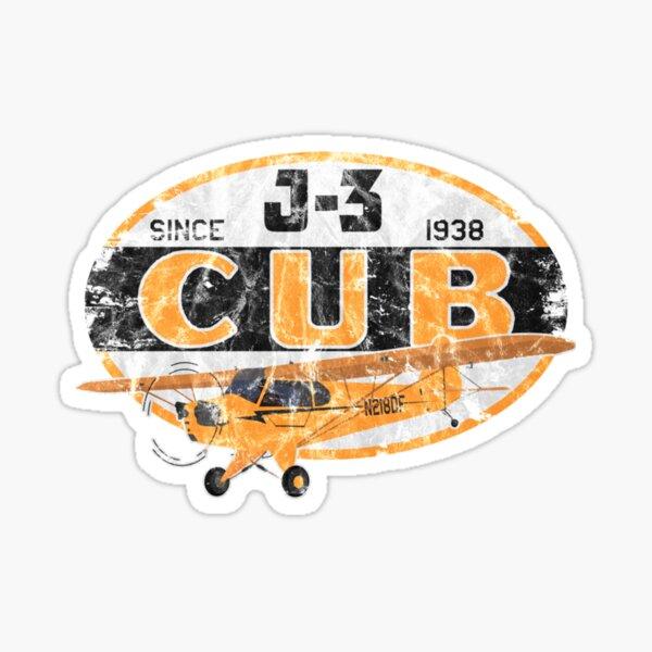 "J-3 Cub ""Since 1938"" Classic Airplane Vintage Design  | Pilot Tshirt Sticker"