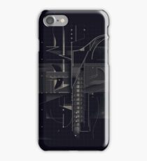 Composition of golden abstract geometry #7 iPhone Case/Skin