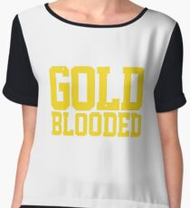 GOLD BLOODED WARRIORS Chiffon Top