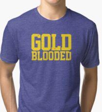 GOLD BLOODED WARRIORS Tri-blend T-Shirt