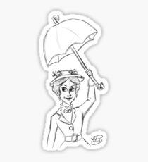 Mary Poppins Sketch Sticker