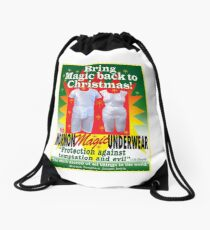 Mormon Underwear...Christmas Magic! Drawstring Bag