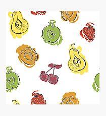 Watercolor fruit Photographic Print
