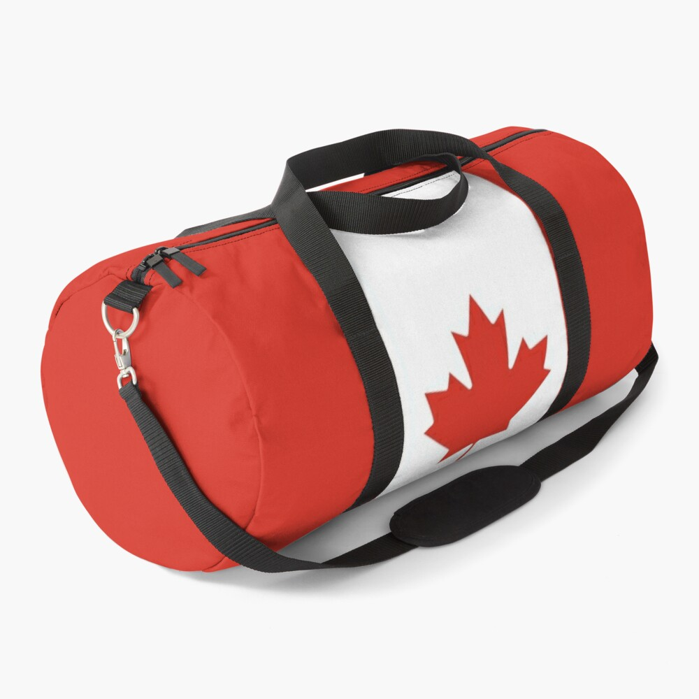 Canadian Flag Vertical Banner Duffle Bag