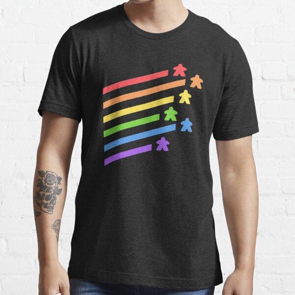 Rainbow Meeples Board Games Addict Essential T-Shirt