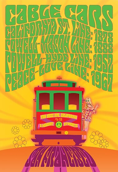 Quot 1960 S Psychedelic San Francisco Cable Car Quot Posters By