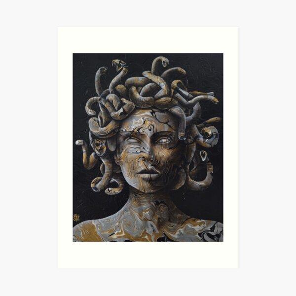 Golden medusa Art Print